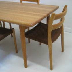 Moller dining table and chairs