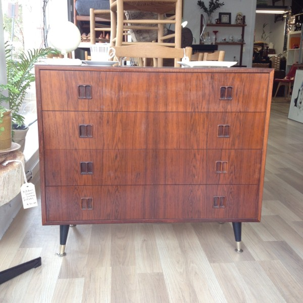 Danish rosewood drawers - lowboy unit by Hjernbo System