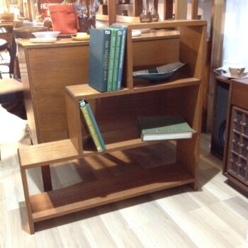 1950s stepped bookshelf - Australian hardwood