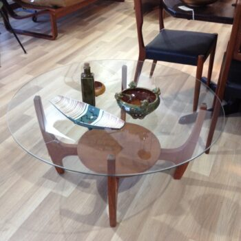 glass top Astro coffee table