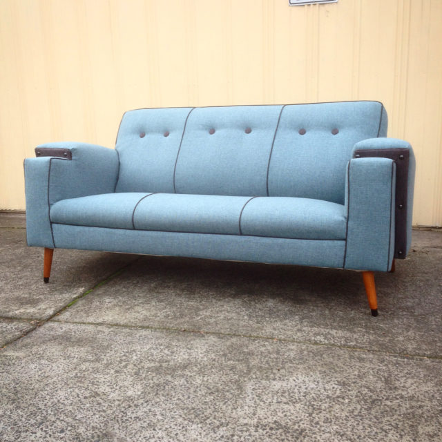 Big and beautiful 40s club sofa gets summer fresh hellip